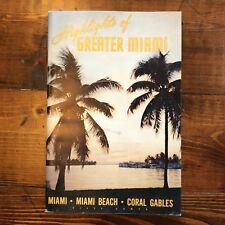1959 Miami Travel Guide Book Booklet Vintage Retro Coral Gables Beach Vacation