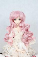 "BJD Doll Hair Wig 6-7"" 1/6 SD DZ DOD LUTS Pink Long Curly Hair"