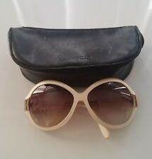 585a95a19d Oliver Peoples Harlot Cream Women s Large Round Sunglasses Gradient Lense