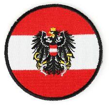 BRAND NEW AUSTRIA AUSTRIAN FLAG (ROUND) IRON ON PATCH