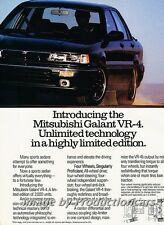1990 Mitsubishi Galant VR4 VR-4 2-page Advertisement Print Art Car Ad J749
