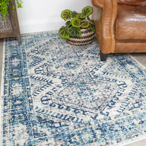Vintage Navy Living Room Rugs Small Large Blue Area Rug Medallion Carpet Runners