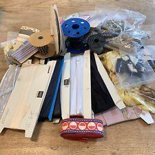 Large Craft Lot of Ribbon Cord Hem Tape Satin Grograin Silk Leatherette Metallic