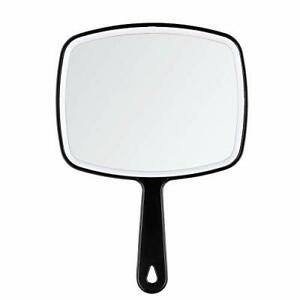 DUcare Hand Mirror Salon Barber Hairdressing Handheld Mirror with Handle Black x