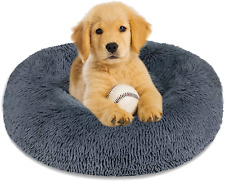 Calming Dog Bed Cat Bed Donut Cuddler, Anti Anxiety Dog Bed for Small Medium Lar
