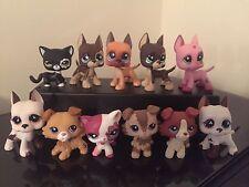 3x Littlest Pet Shop LPS Collies #2210 Great Dane #577 Dog Cats #2291 USA SELL
