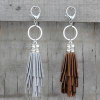 AM_ FT- Women Long Velvet Tassels Key Chain Car Keyring Keychain Bag Hanging Dec