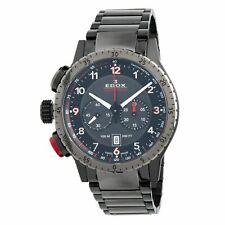Edox 10305 37GNRM NR1 Men's Chronorally 1 Black Quartz Watch