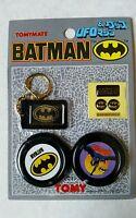 Tomy 1989 DC Comics Batman UFO, Keychain, Stickers #1~ Ray Rohr Cosmic Artifacts