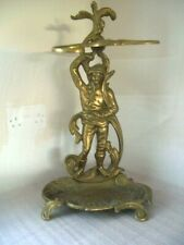 Vintage Brass Umbrella Stand/ Stick Stand Figural
