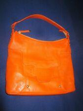 Kate spade tote shoulder bag purse, orange genuine leather