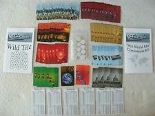 MEGAcquire 1963 World Map Conversion Kit & Wild TIle Kits (Kits ONLY-No Game)