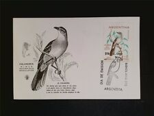 ARGENTINA MK 1962 BIRDS CALANDRIA VÖGEL MAXIMUMKARTE MAXIMUM CARD MC CM c7672