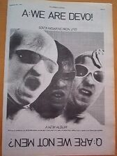 DEVO We Are Devo 1978 UK Press ADVERT 10x8 inches