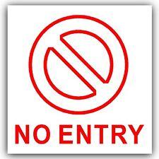 1x nessuna voce sticker-self Adesivo Porta, ufficio, esterni finestre sicurezza sign-87mm