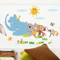 Baby Love Elephant Monkey Animal Zoo Kid's Home Room Wall Stickers Decal Decor
