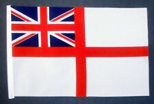 "WHITE ENSIGN ROYAL NAVY GREAT BRITAIN BUDGET FLAG small 9""x6"" BRITISH NAVAL"