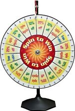 Carnival Trade Show Spinning Prize Wheel / 20 Pie Insert Pocket  for Templates