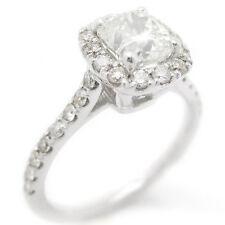 CUSHION CUT ANTIQUE STYLE PRONG SET DIAMOND ENGAGEMENT RING C30