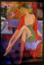 "Avtandil Makharoblidze! ""Romantic Afternoon"" Giclee on Canvas, W/ COA"