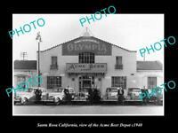 OLD LARGE HISTORIC PHOTO OF SANTA ROSA CALIFORNIA, THE ACME BEER DEPOT c1940
