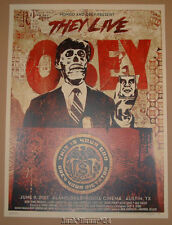 Shepard Fairey They Live Movie Poster Print Mondo Obey Red Variant Roddy Piper