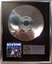 Blondie - The Best Of Blondie CD/Cover gerahmt + Deko goldene Vinyl Schallplatte