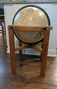 Vintage MCM Lighted Replogle Globe on Stand Heirloom Series - Very Cool!
