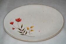 "Vintage China .Lovely Oval Flowered Plate 9-1/2"" x 7-1/4"""