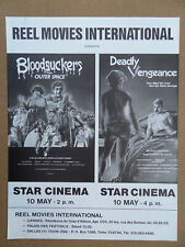 BLOODSUCKERS FROM OUTER SPACE / DEADLY VENGEANCE - FLYER MARCHE DU FILM CANNES