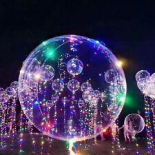 Romantic 18 Inch Luminous Led Air Balloon String Lights Round Bubble Balloons