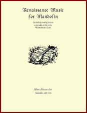 Renaissance Music  for Mandolin Book/CD Notes & TAB