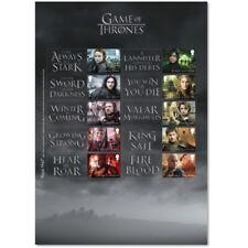 Game Of Thrones: Riesiger Sonderbriefmarken Block