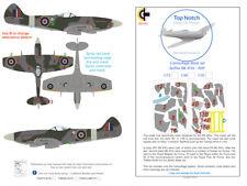 TopNotch Spitfire XIVE RAF camouflage scheme vinyl mask set
