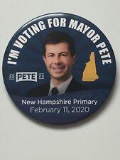 "2020 Mayor Pete Buttigieg for President 3"" Button New Hampshire Primary Pin"