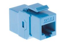 Cat6 RJ45 Inline Coupler Type Keystone Jack, Blue, Lifetime Warranty