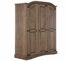 Puerto Rico 3 Door Wardrobe - Dark Pine