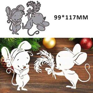 Stanzschablone Cutting dies Weihnachten Doppelt Maus Schablonen DIY Scrapbooking