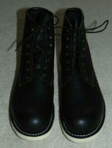 NEW  RED WING  2921  ROVER  BLACK HARNESS LEATHER LACE UP BOOTS 13D