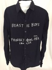 Taka Original Women's Beastie Boys Button Down Shirt Black Cotton Size Large