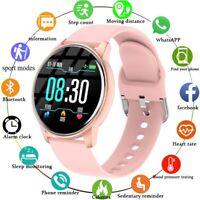 LIGE Smart Full Touch Waterproof Watch Women Men Silica Band Sport Oxygen Rate