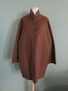 NWT $4,750 LORO PIANA brown 100% cashmere with goatskin suede trim coat 50