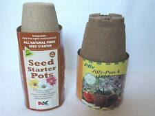 """Jiffy Pots Seed Starter Pots All Natural 4"""" & 3 1/4"""" sizes"""