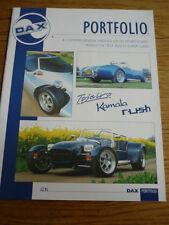 "Dj-Dax Gama réplica Kit Car cartera folleto de ventas"""""