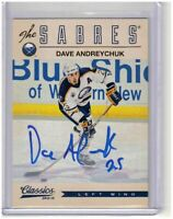 Dave Andreychuk Buffalo Sabres 2012-13 Classics Signatures Autograph Card