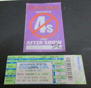 Godsmack ticket with pass 11/4/2010 Nokia LA
