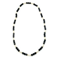 """Labradorite Bead Necklace with Pearls & 14K Yellow Gold Beads 29"""""""