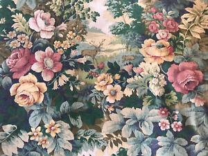 Sanderson Fabric Vintage 'Glade' Bottle Green, Crimson Deer Cotton Panel 61x61cm