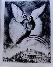 Marc Chagall offset lithograph Bible  paris maeght 1960 original  2 sided 132