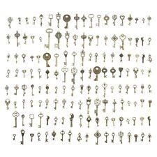 More details for 150pcs antique bronze mixed key pendant charms set diy handmade accessories